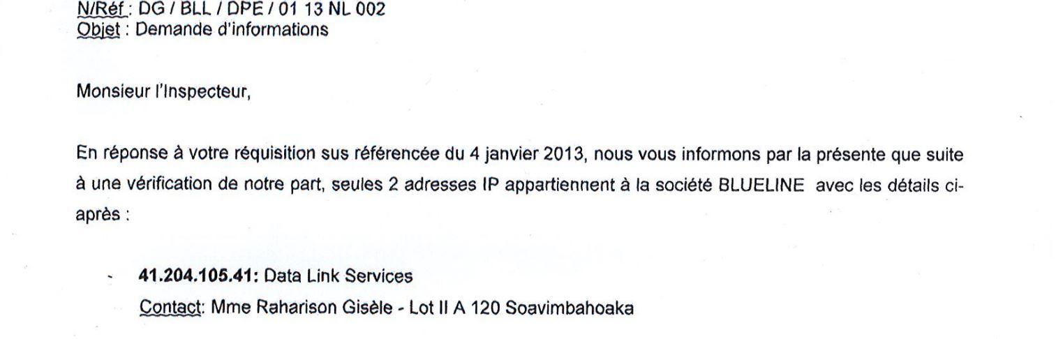 Datalink a espionné la société CONNECTIC pour être NEXTHOPE Madagascar